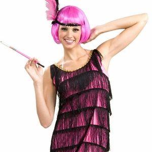 Women Flapper Costume Size M Dress 8-12